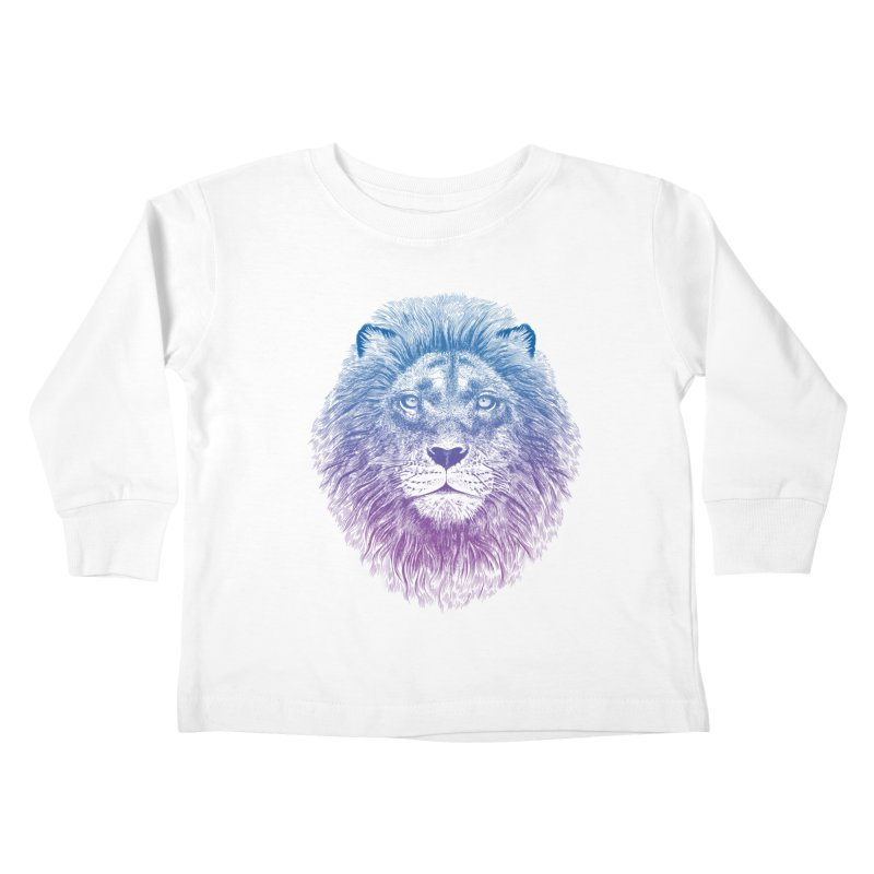 Face of a Lion Kids Toddler Longsleeve T-Shirt by rcaldwell's Shop