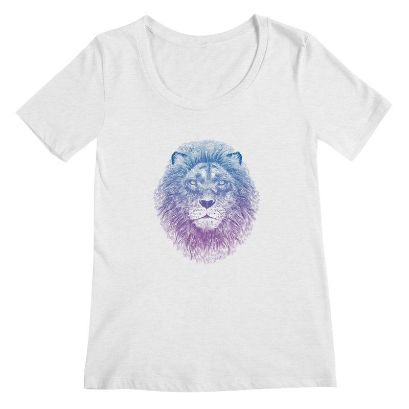 Face of a Lion Women's Scoopneck by rcaldwell's Shop