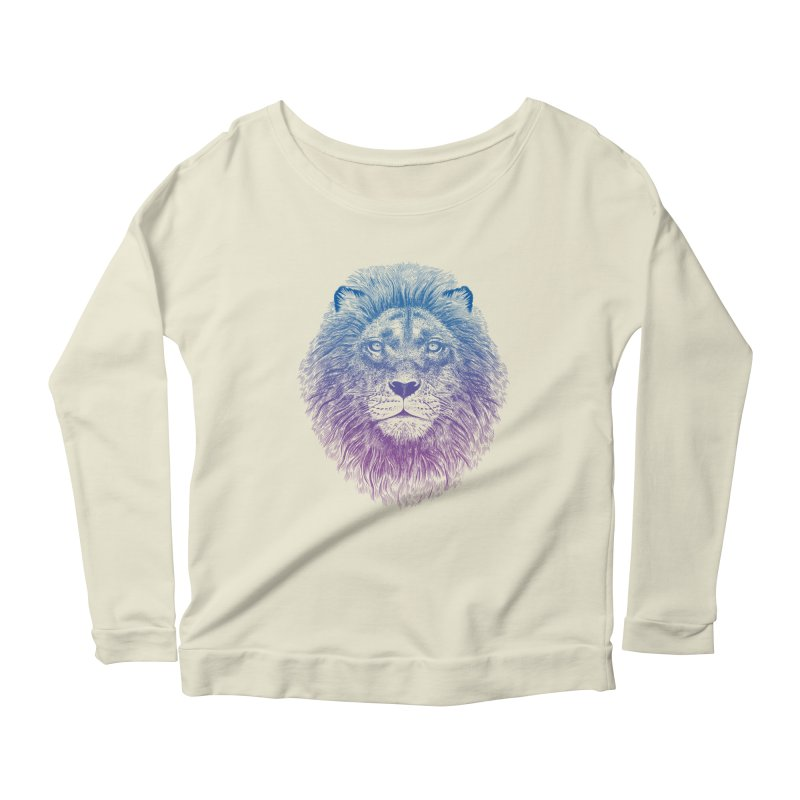 Face of a Lion Women's Longsleeve Scoopneck  by rcaldwell's Shop