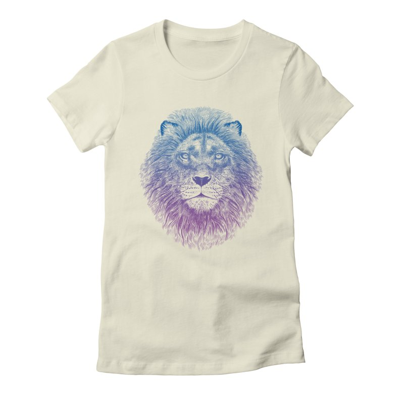 Face of a Lion Women's Fitted T-Shirt by rcaldwell's Shop