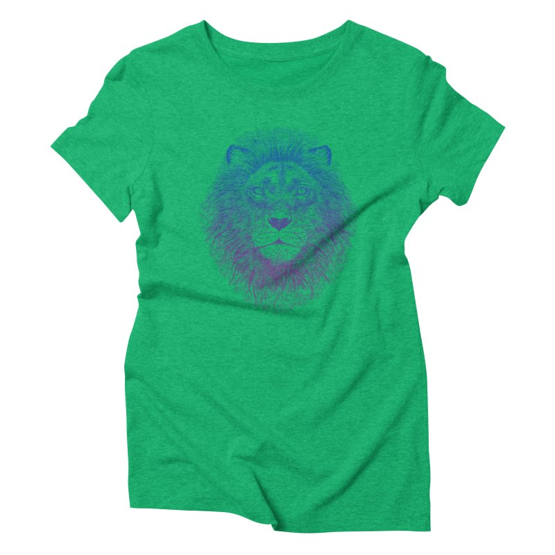 Face of a Lion Women's Triblend T-shirt by rcaldwell's Shop