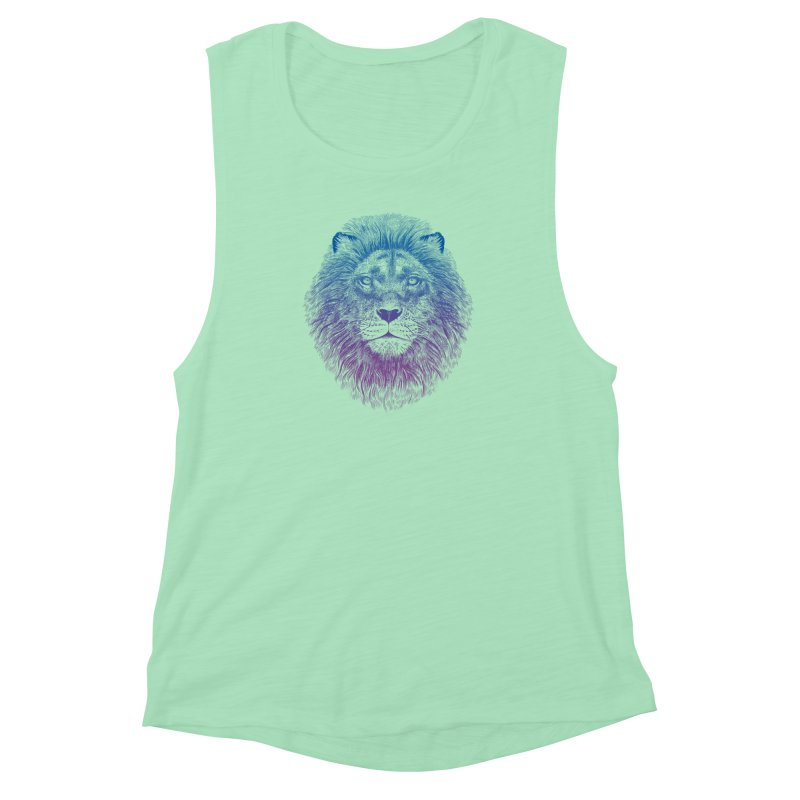 Face of a Lion Women's Muscle Tank by rcaldwell's Shop
