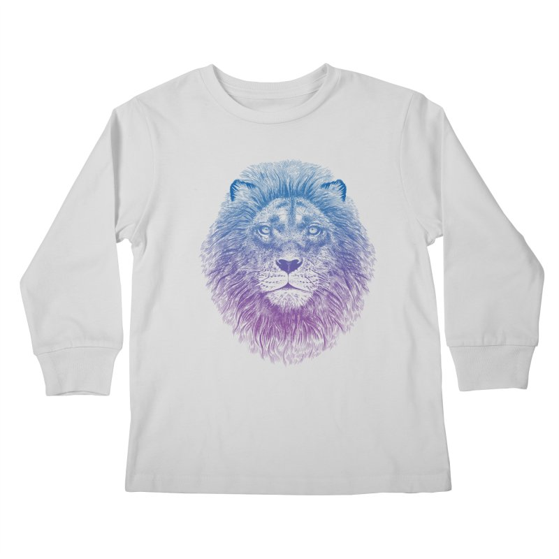 Face of a Lion Kids Longsleeve T-Shirt by rcaldwell's Shop