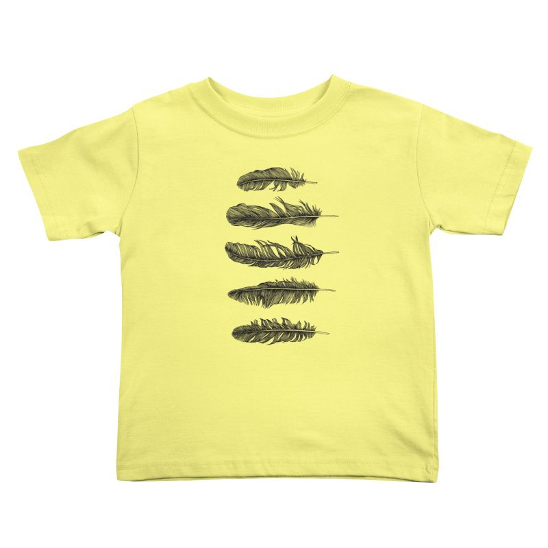 Lucky Five Feathers Kids Toddler T-Shirt by rcaldwell's Shop