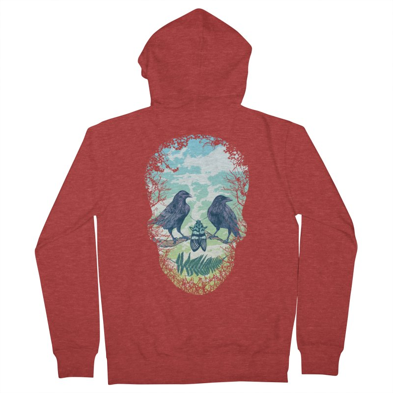 Nature's Skull Women's Zip-Up Hoody by rcaldwell's Shop