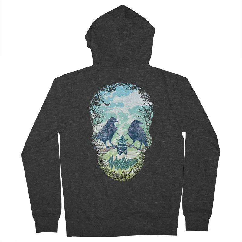 Nature's Skull Men's Zip-Up Hoody by rcaldwell's Shop