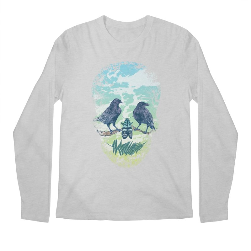 Nature's Skull Men's Longsleeve T-Shirt by rcaldwell's Shop