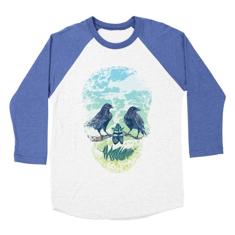 Nature's Skull Women's Baseball Triblend T-Shirt by rcaldwell's Shop
