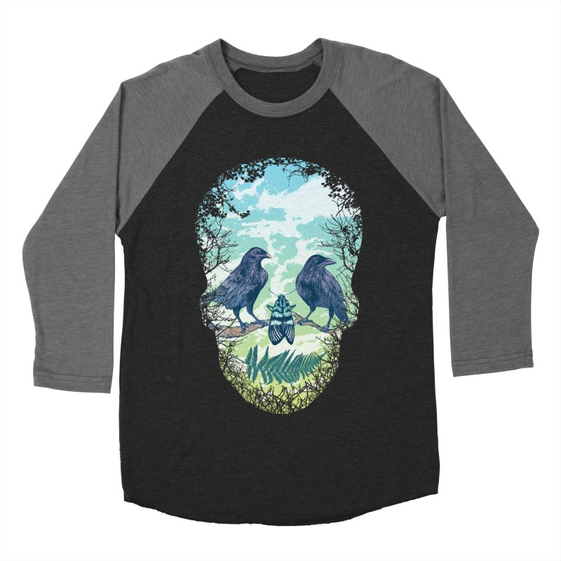 Nature's Skull Men's Baseball Triblend T-Shirt by rcaldwell's Shop