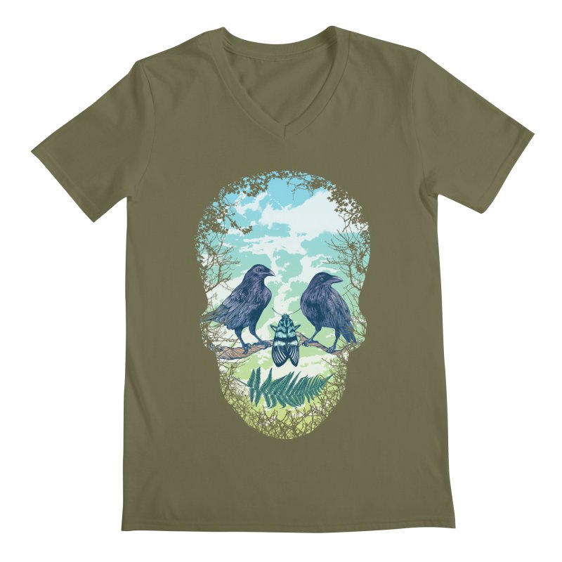 Nature's Skull Men's V-Neck by rcaldwell's Shop