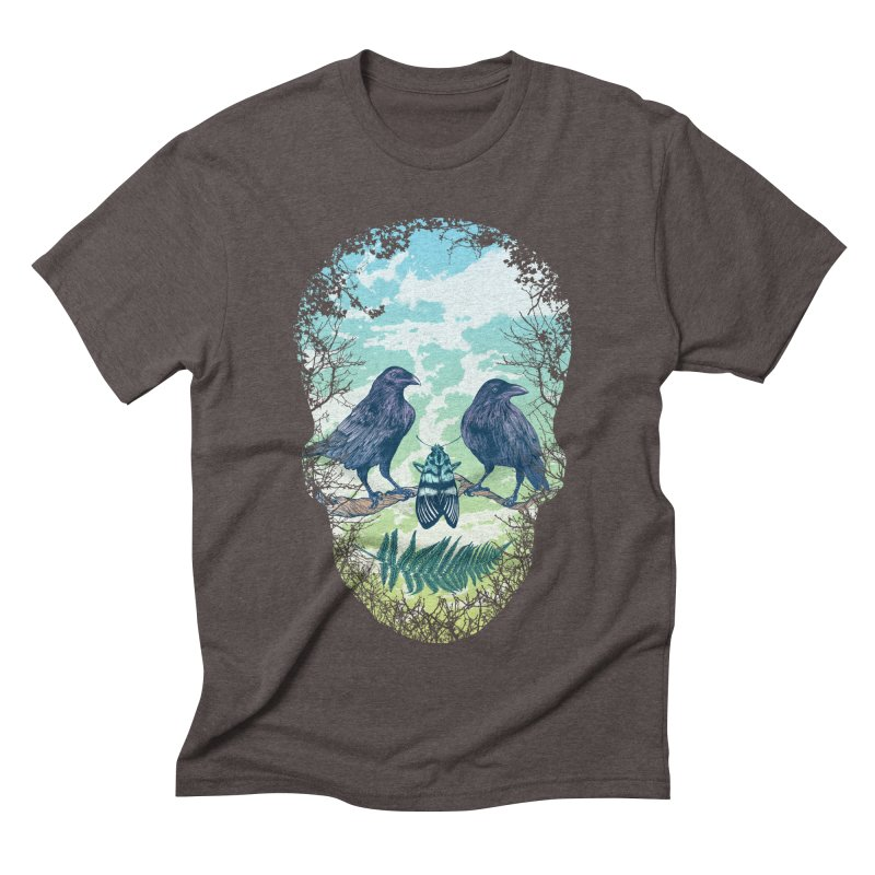 Nature's Skull Men's Triblend T-shirt by rcaldwell's Shop