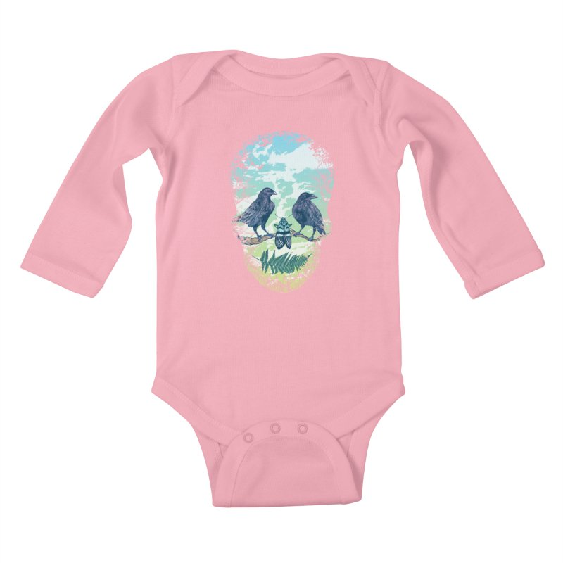 Nature's Skull Kids Baby Longsleeve Bodysuit by rcaldwell's Shop