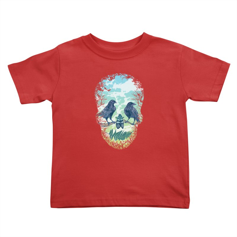 Nature's Skull Kids Toddler T-Shirt by rcaldwell's Shop