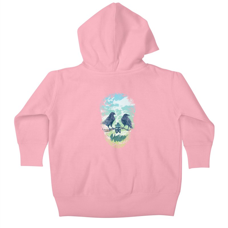 Nature's Skull Kids Baby Zip-Up Hoody by rcaldwell's Shop