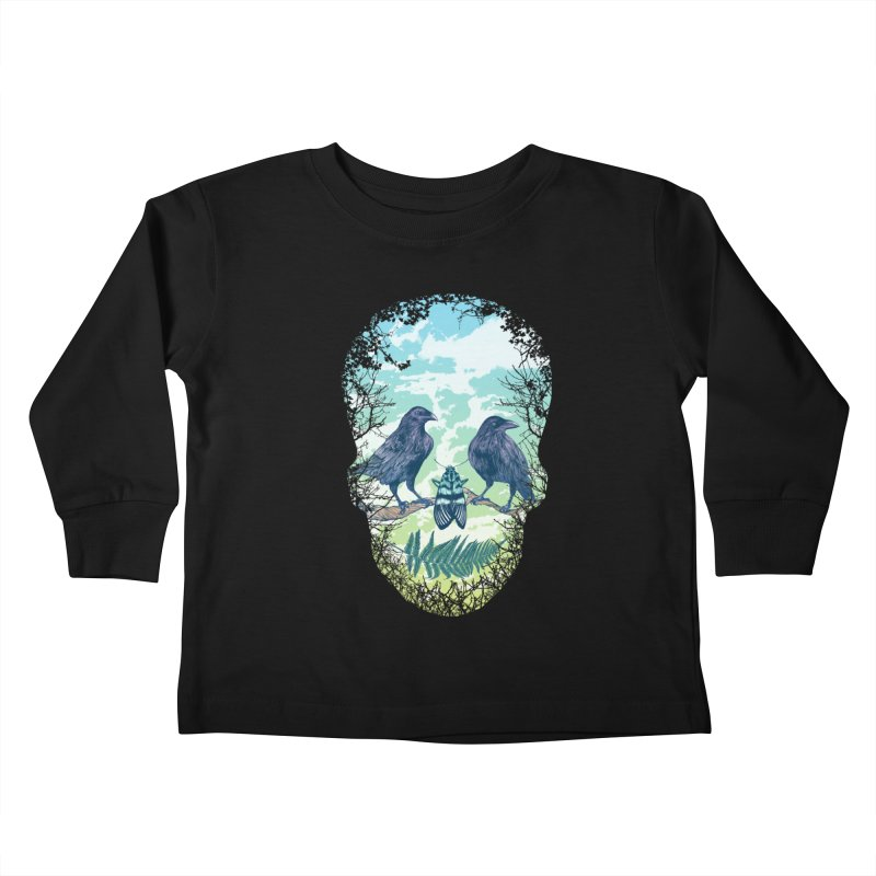 Nature's Skull Kids Toddler Longsleeve T-Shirt by rcaldwell's Shop