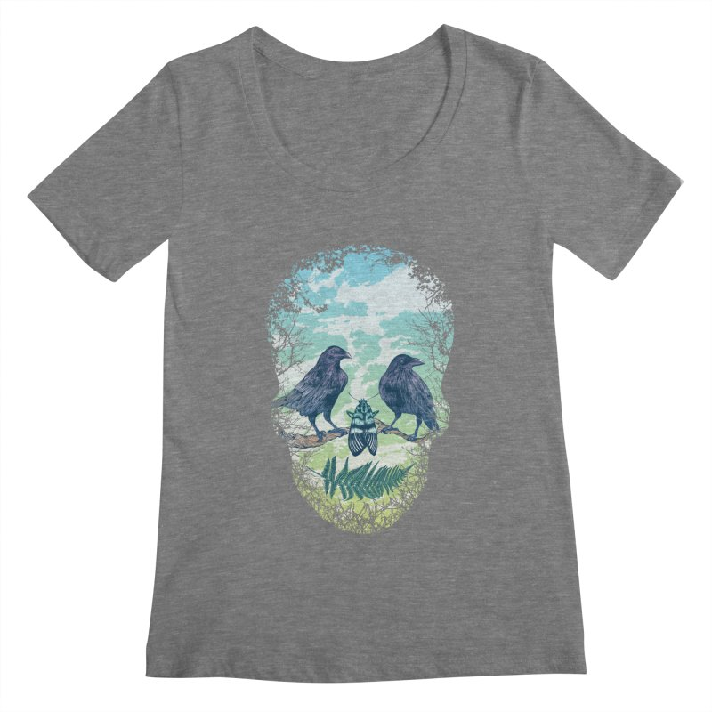 Nature's Skull Women's Scoopneck by rcaldwell's Shop