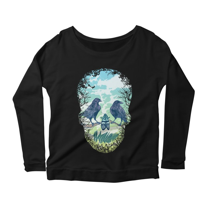 Nature's Skull Women's Longsleeve Scoopneck  by rcaldwell's Shop