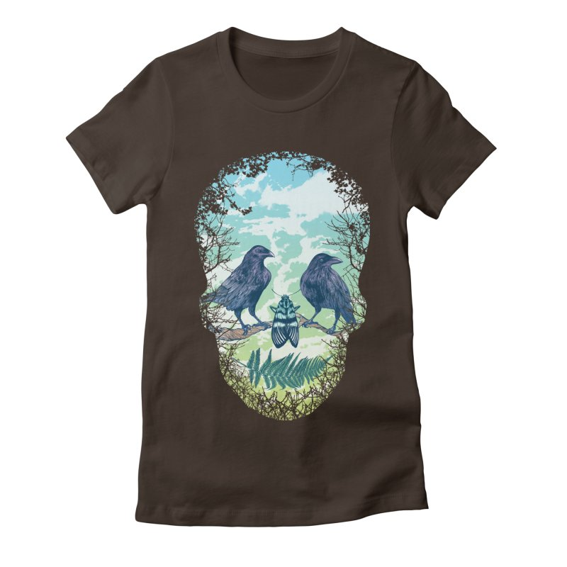 Nature's Skull Women's Fitted T-Shirt by rcaldwell's Shop