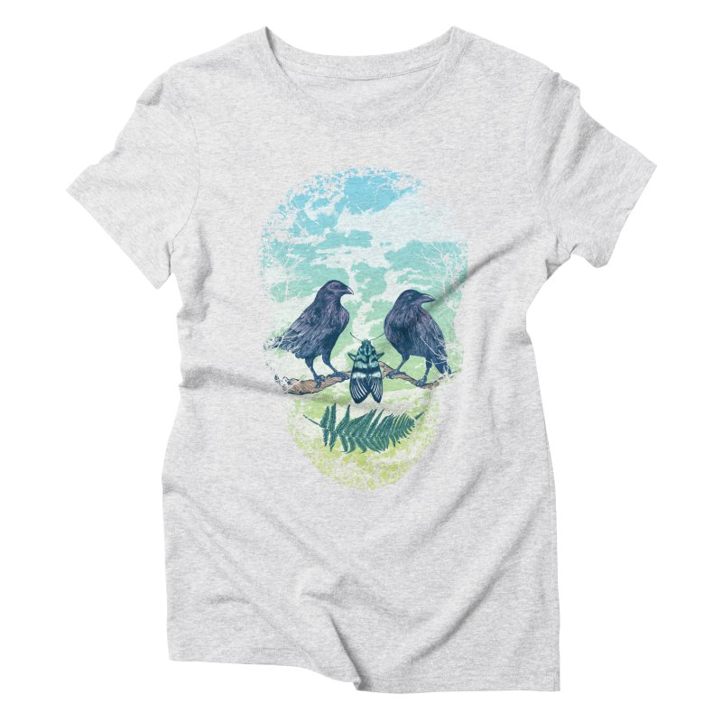 Nature's Skull Women's Triblend T-Shirt by rcaldwell's Shop