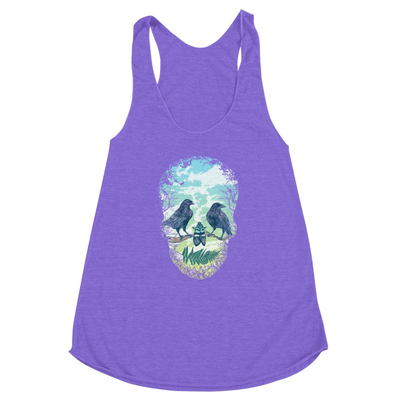 Nature's Skull Women's Racerback Triblend Tank by rcaldwell's Shop