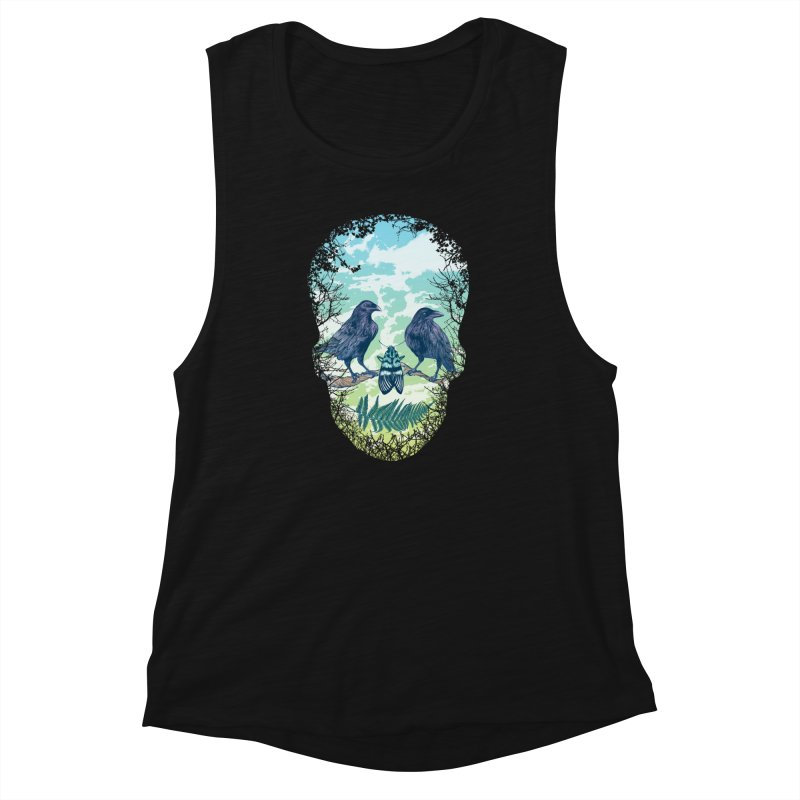 Nature's Skull Women's Muscle Tank by rcaldwell's Shop