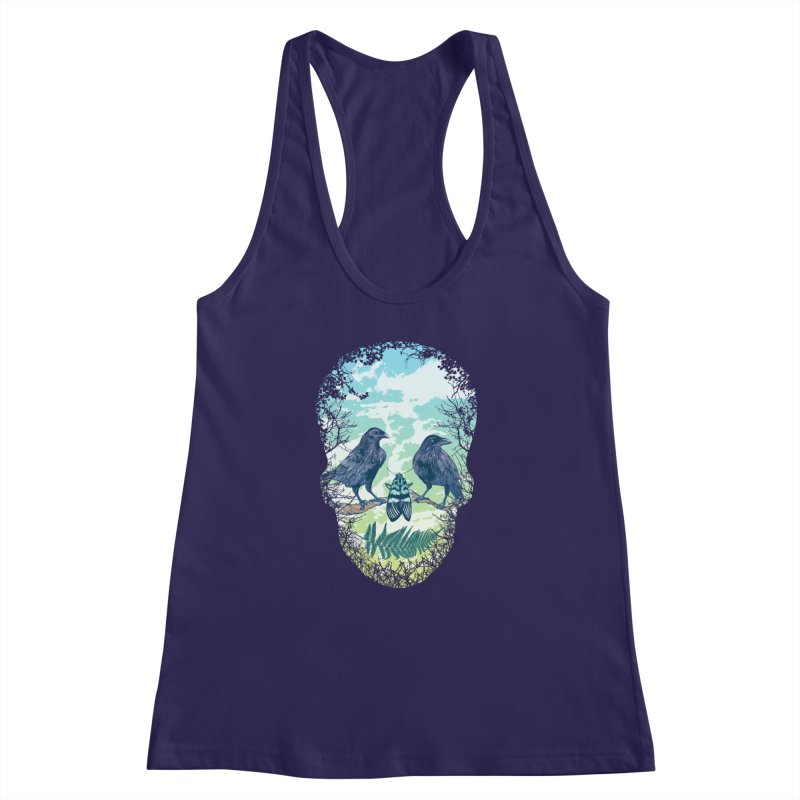 Nature's Skull Women's Racerback Tank by rcaldwell's Shop