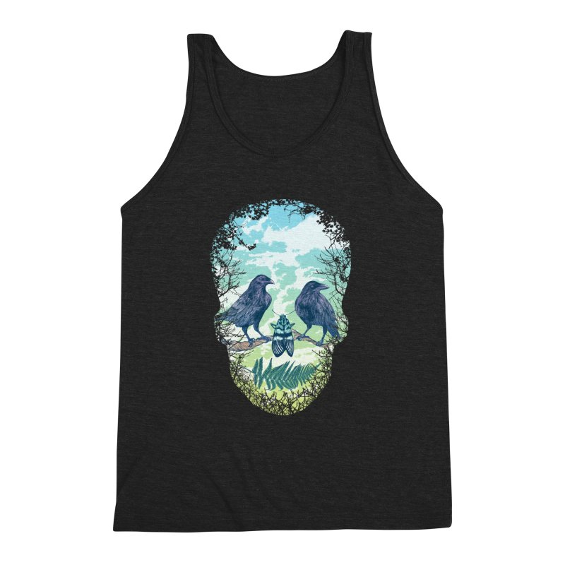 Nature's Skull Men's Triblend Tank by rcaldwell's Shop