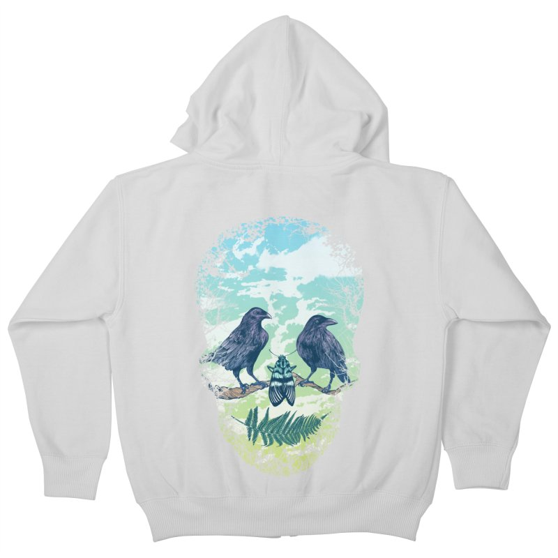 Nature's Skull Kids Zip-Up Hoody by rcaldwell's Shop