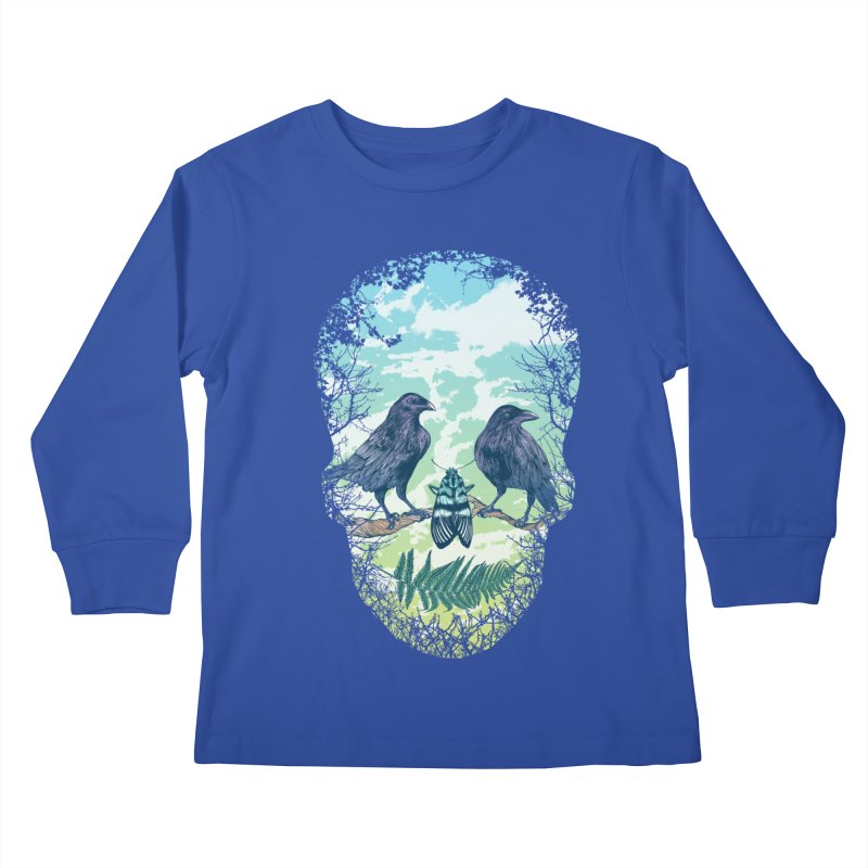 Nature's Skull Kids Longsleeve T-Shirt by rcaldwell's Shop