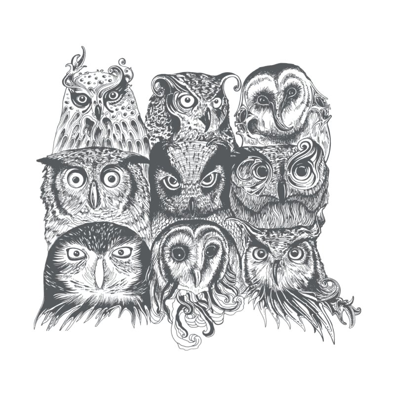Nine Wise Owls None  by rcaldwell's Shop