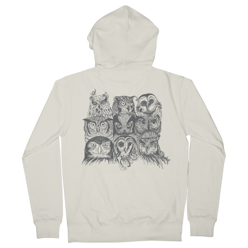 Nine Wise Owls Women's Zip-Up Hoody by rcaldwell's Shop