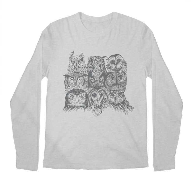 Nine Wise Owls Men's Longsleeve T-Shirt by rcaldwell's Shop