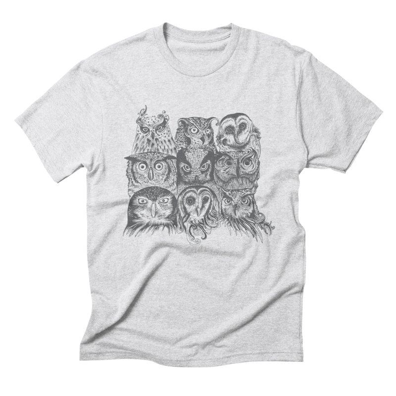Nine Wise Owls Men's Triblend T-shirt by rcaldwell's Shop