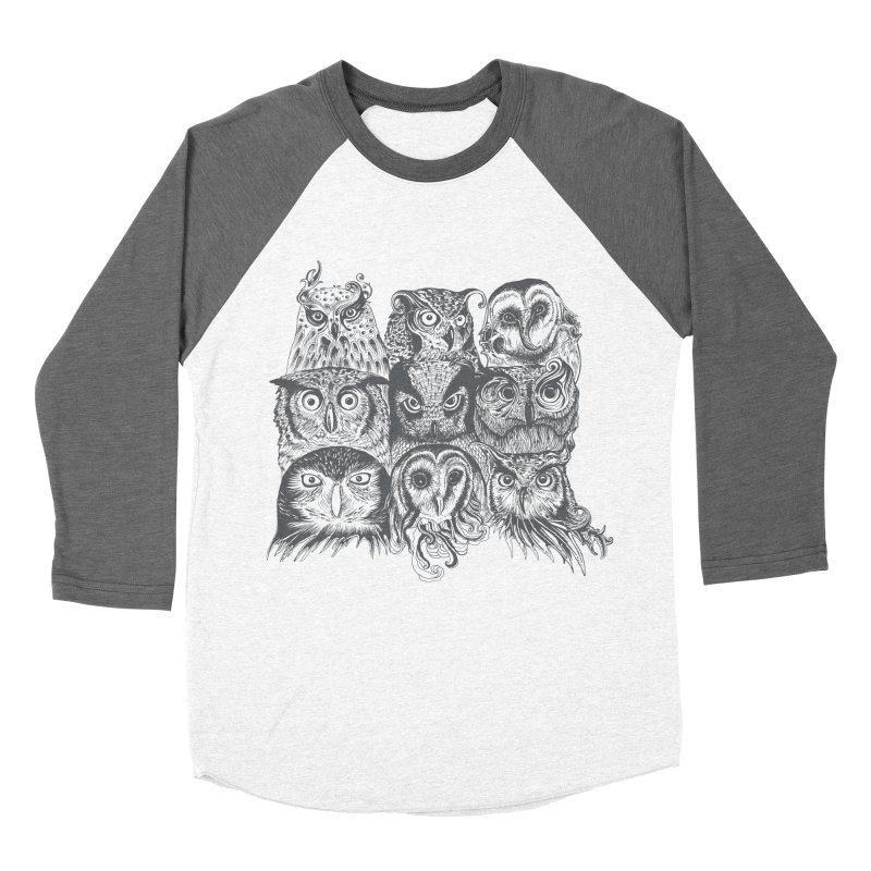 Nine Wise Owls Men's Baseball Triblend T-Shirt by rcaldwell's Shop