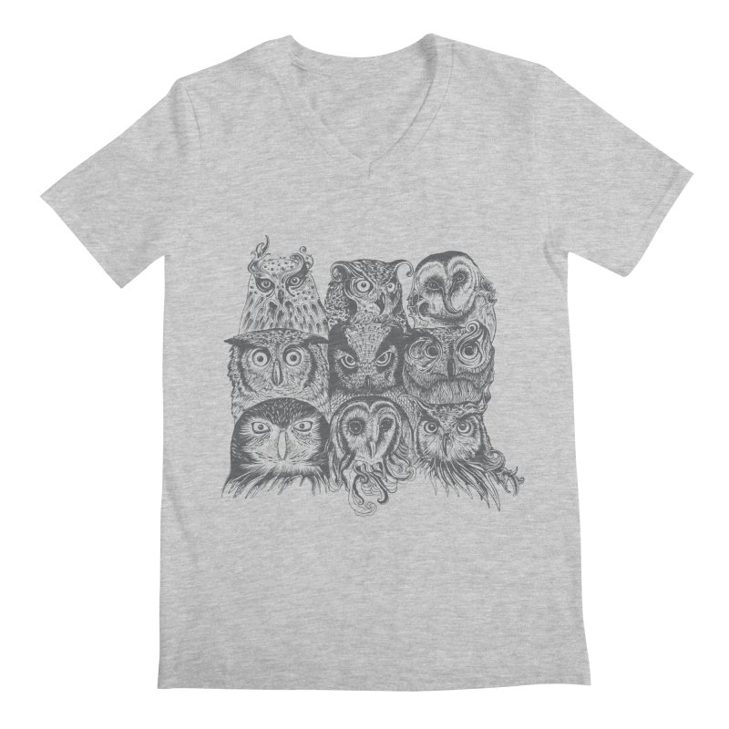 Nine Wise Owls Men's V-Neck by rcaldwell's Shop