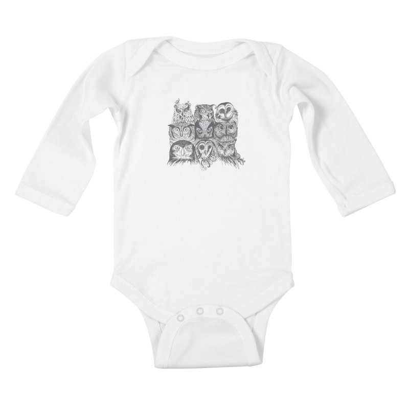 Nine Wise Owls Kids Baby Longsleeve Bodysuit by rcaldwell's Shop