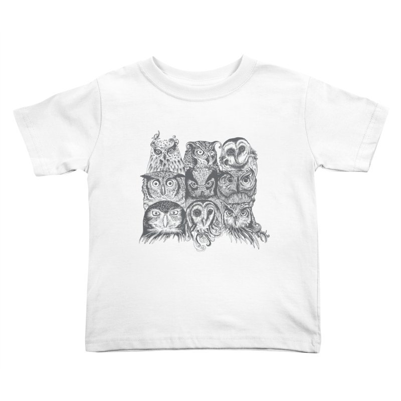 Nine Wise Owls Kids Toddler T-Shirt by rcaldwell's Shop