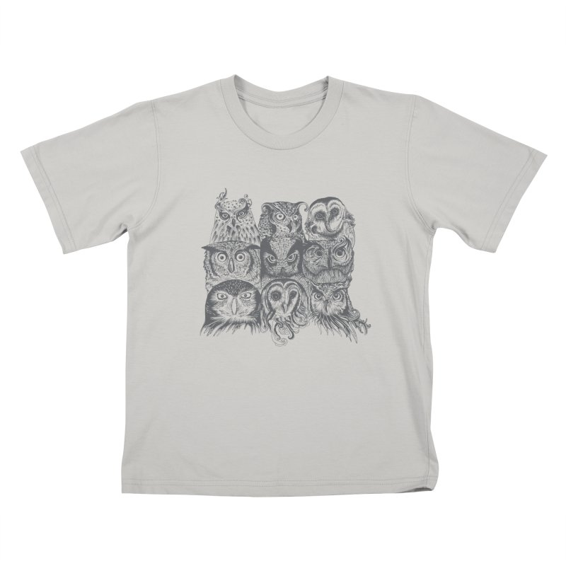 Nine Wise Owls Kids T-shirt by rcaldwell's Shop