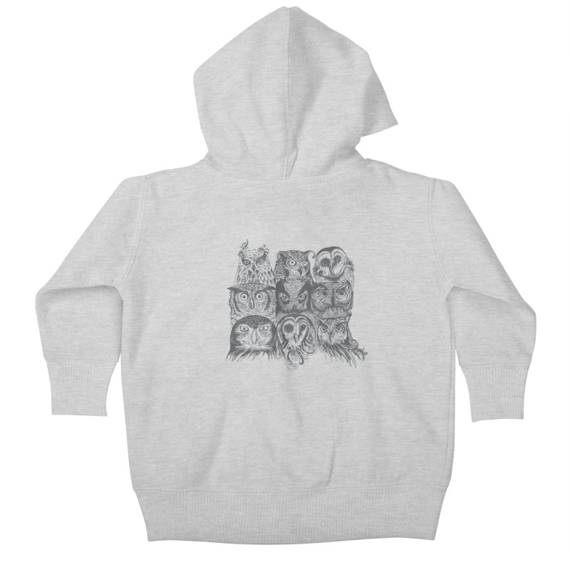 Nine Wise Owls Kids Baby Zip-Up Hoody by rcaldwell's Shop