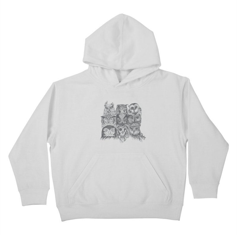 Nine Wise Owls Kids Pullover Hoody by rcaldwell's Shop