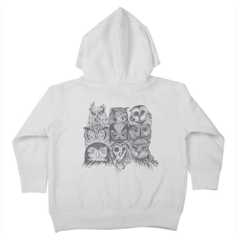 Nine Wise Owls Kids Toddler Zip-Up Hoody by rcaldwell's Shop