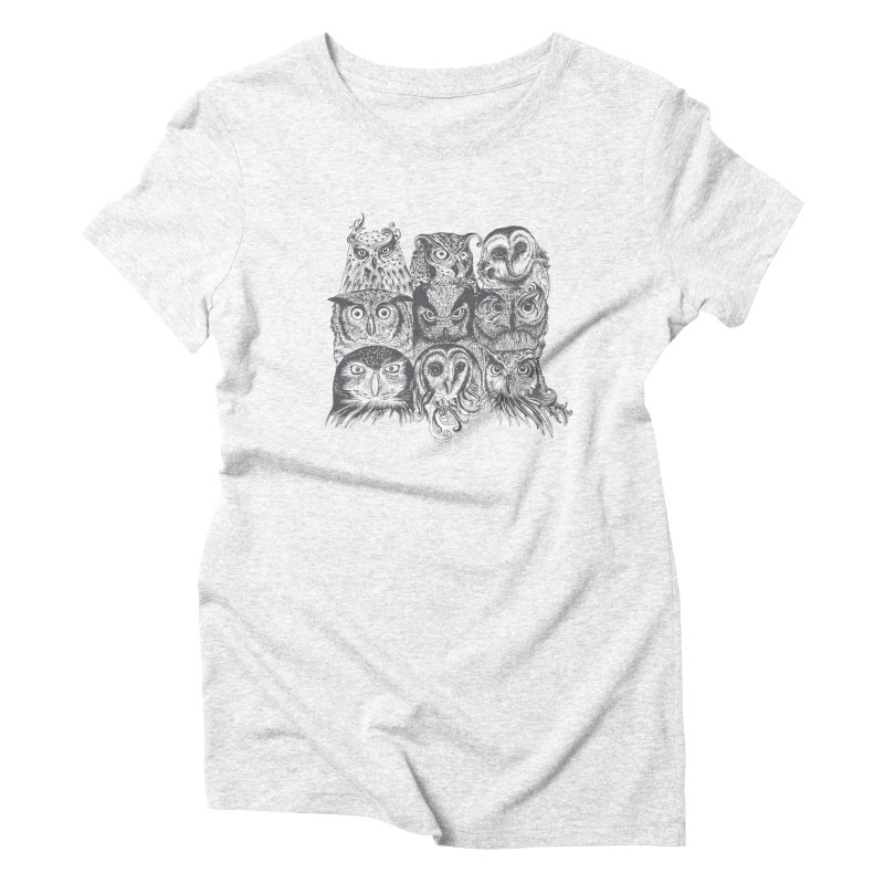 Nine Wise Owls Women's Triblend T-shirt by rcaldwell's Shop