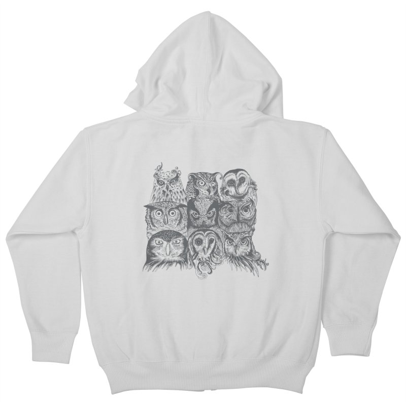 Nine Wise Owls Kids Zip-Up Hoody by rcaldwell's Shop