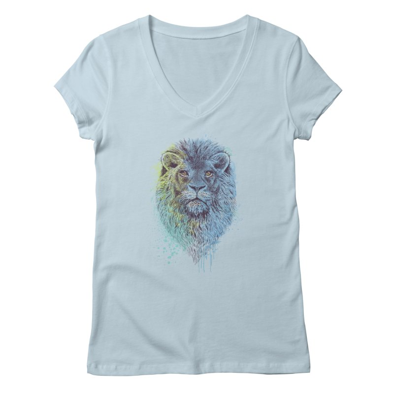 Lion King Women's V-Neck by rcaldwell's Shop