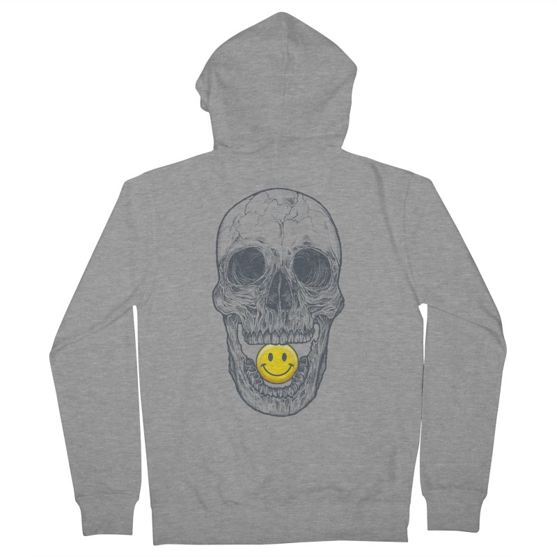 Have A Nice Day Skull Men's Zip-Up Hoody by rcaldwell's Shop