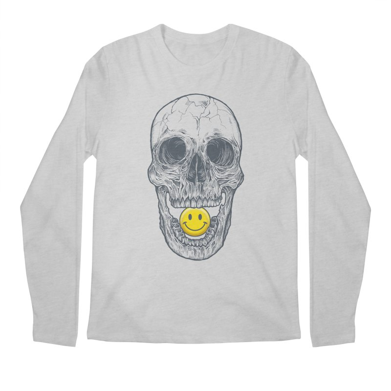 Have A Nice Day Skull Men's Longsleeve T-Shirt by rcaldwell's Shop