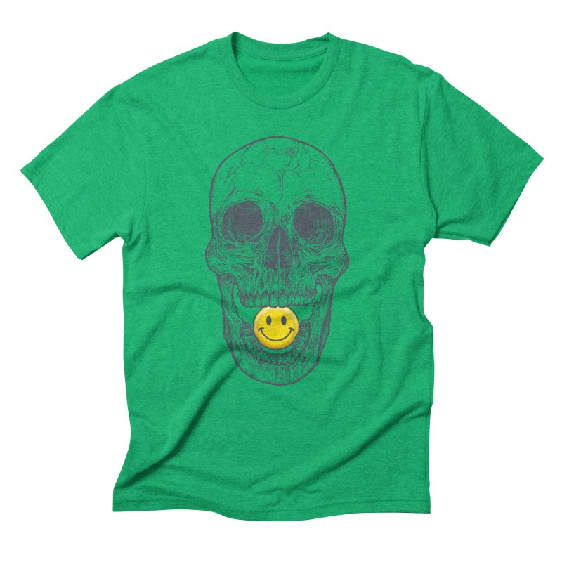 Have A Nice Day Skull Men's Triblend T-Shirt by rcaldwell's Shop