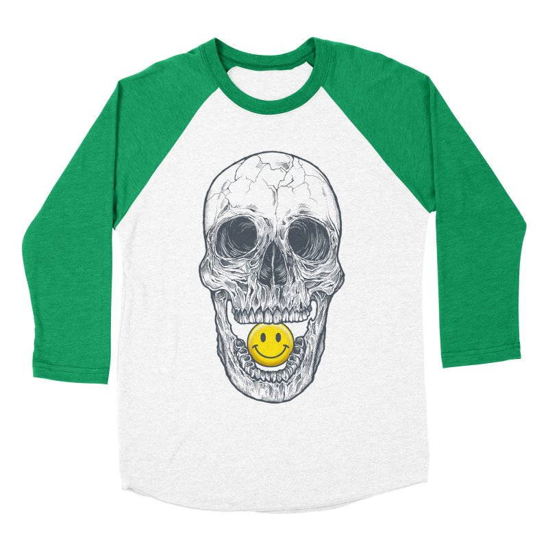 Have A Nice Day Skull Men's Baseball Triblend T-Shirt by rcaldwell's Shop