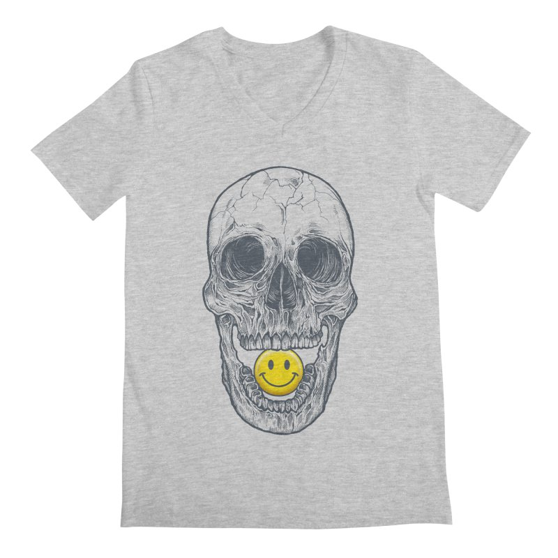 Have A Nice Day Skull Men's V-Neck by rcaldwell's Shop