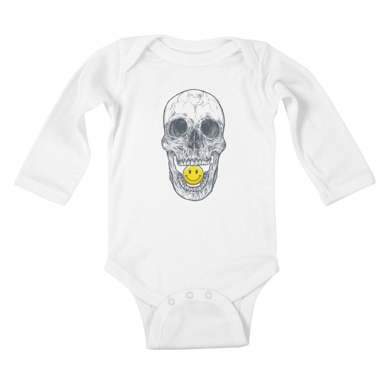 Have A Nice Day Skull Kids Baby Longsleeve Bodysuit by rcaldwell's Shop
